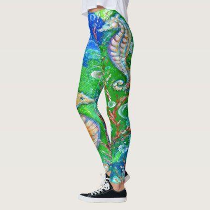 Seahorse Ocean Design Leggings Zazzle Com Leggings Design Ocean Design Design