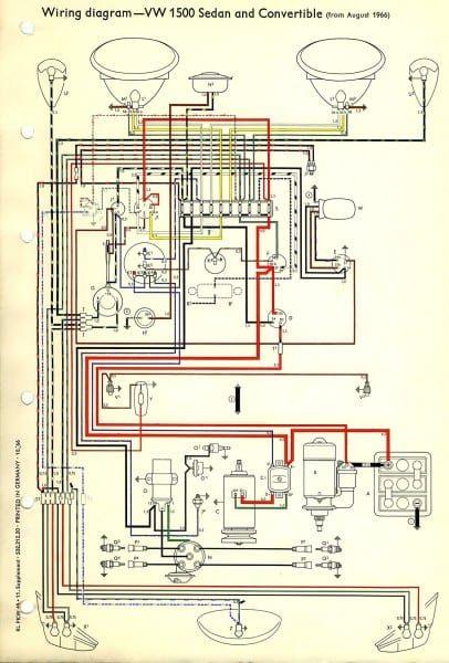 Vw Wiring Diagram Vw Bug Vw Super Beetle Vw Beetles