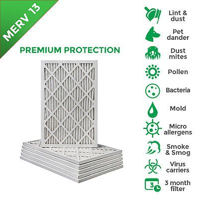 Details About 14x25x1 Merv 13 Pleated Ac Furnace Air Filters 6