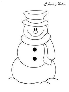20 Cute Snowman Coloring Pages For Kids Easy Free And Printable