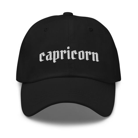 Capricorn Zodiac Embroidered Hat - Capricorn Hat - Capricorn Gift - Capricorn Zodiac Hat - Birthday Hat - Zodiac Constellation Hat #HoroscopeHat #CapricornZodiac #GiftsForCapricorn #CapricornQueen #CapricornSign #ZodiacHat #CapricornQueenHat #BirthdayHat #ConstellationHat #CapricornHat