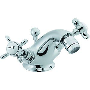 Wickes Tipica Bidet Mixer Tap Chrome Bath Taps Bathroom Taps Wickes