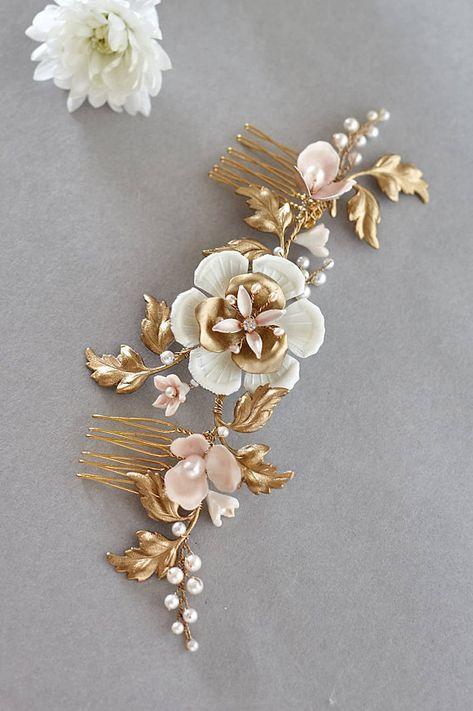 Fiori X Capelli.Oreste Bridal Headpiece Bridal Comb Floral Headpiece Jonida