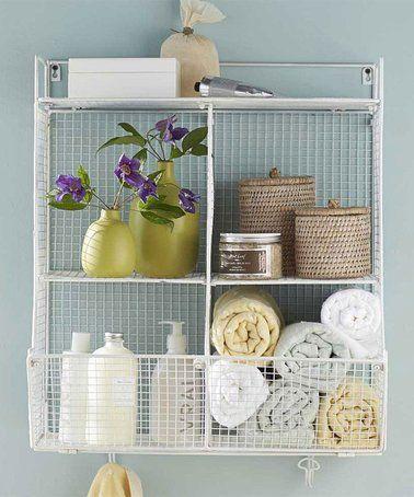 Look At This Zulilyfind White Wire Quad Wall Shelf Zulilyfinds Shelves Hanging Shelves Shelving