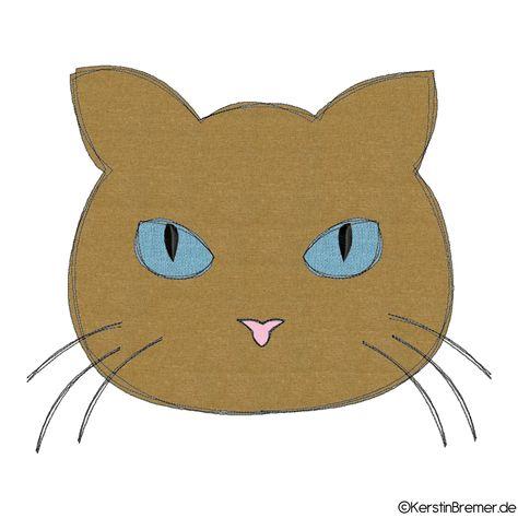 Katzenkopf Doodle Stickdatei Katzenkopf Stickmuster Und Katze