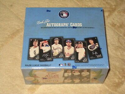 SOLD OUT! 2019 Topps Allen /& Ginter X Factory Sealed Hobby Box Online Exclusive