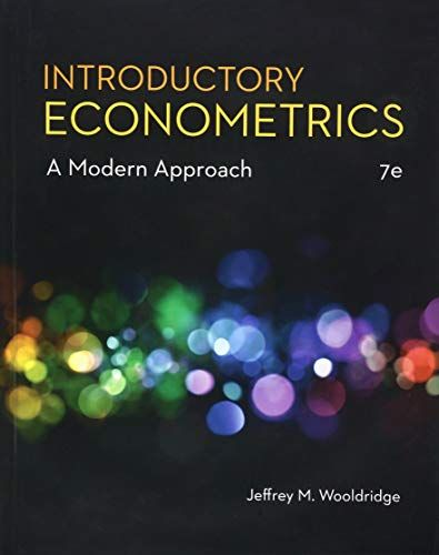Introductory Econometrics A Modern Approach Mindtap Course List In 2021 Economics Textbook Book Presentation Textbook