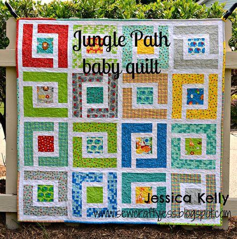 Moda Bake Shop Jungle Path baby quilt by sewcraftyjess, via Flickr