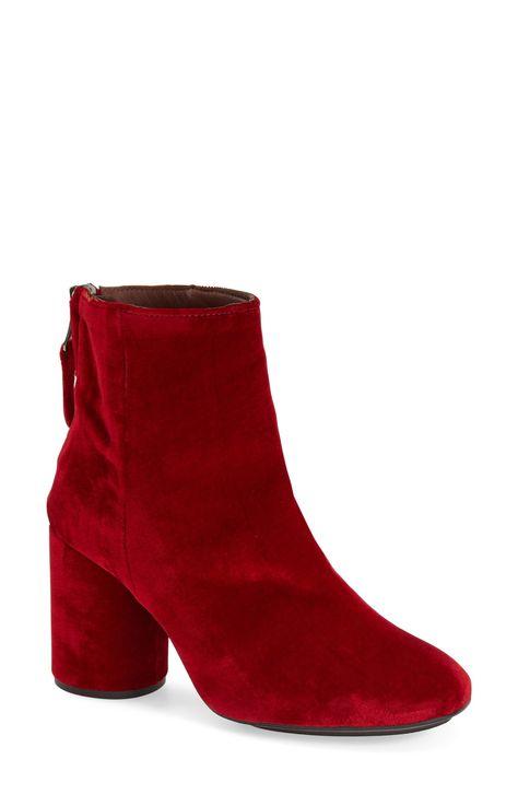 Topshop'Pinball' Velvet Ankle Boots (Women)