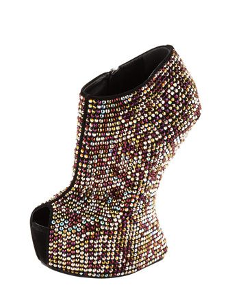 No-Heel Platform Bootie by Giuseppe Zanotti at Bergdorf Goodman. I would seriously kill myself if I EVER attempted to wear these! But too cool!!!