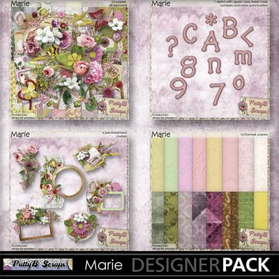 Marie Collection-(PattyB Scraps) #mymemories #digitalscrapbooking #pattybscraps