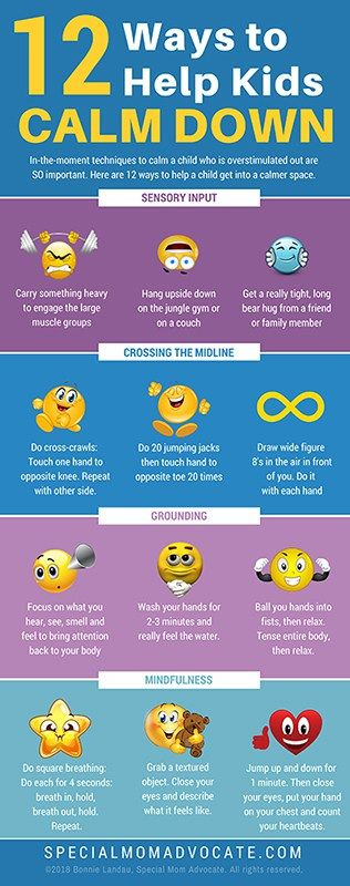 Printable Poster: 12 Ways for Calming the Hyper Child | Special Needs Gifts