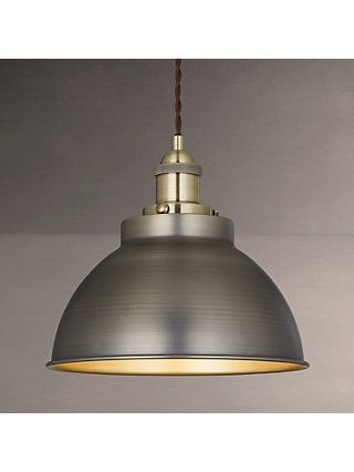 buy popular 4d158 342fb John Lewis & Partners Baldwin Pendant Ceiling Light, Antique ...