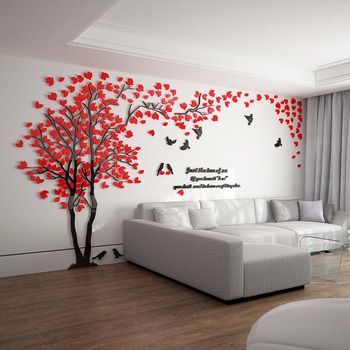 Wall Decals For Home Tree Letter, Living Room Wall Decals