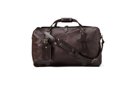 Filson Weatherproof Leather Duffel Bag   Upgrade your weekender to one of  these luxe leather overnight bags. d678595e5e