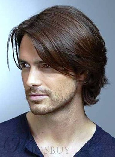 Ombre Men's Lace Front Wig 100% Human Hair 10 Inches