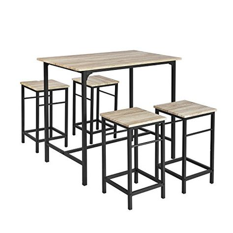 SoBuy OGT11-N Set de 1 Table 4 Tabourets Ensemble table de ...