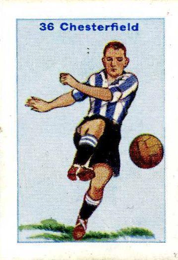 1934 Team Kit Card Chesterfield футбол Football Cards