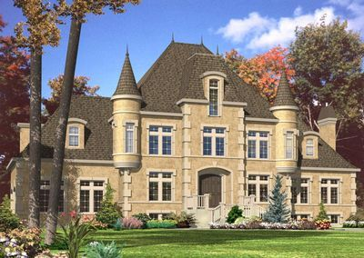 Plan 9025pd 4 Bed French Chateau House Plan Castle House Plans Country Style House Plans Luxury House Plans