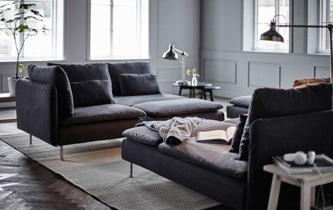 Dynamisez votre salon avec les différentes configurations de canapé que nous vous proposons, réalisées avec la série SÖDERHAMN.