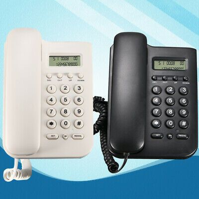 Wall Mount Lcd Telephone Corded Office Landline Caller Phone Home Desk Display In 2020 Phone Cords Landline Phone Office Desktop