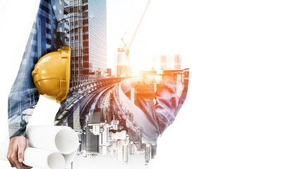 Future Building Construction Engineering Project Concept With Double Exposure Graphic Design Building E In 2020 Business Stock Photos Double Exposure Future Buildings