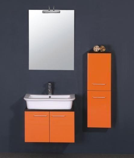 Meuble salle de bain avec colonne complet en bois et céramique
