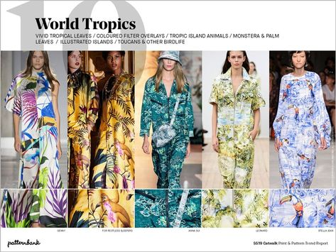 Image result for tropical print trends ss19 runway