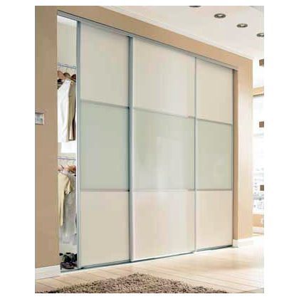Wideline Sliding Door - White and white glass - 610mm at Homebase -- Be inspired and make your house a home. Buy now. | Sliding Wardrobe Doors | Pinterest ...  sc 1 st  Pinterest & Wideline Sliding Door - White and white glass - 610mm at Homebase ...