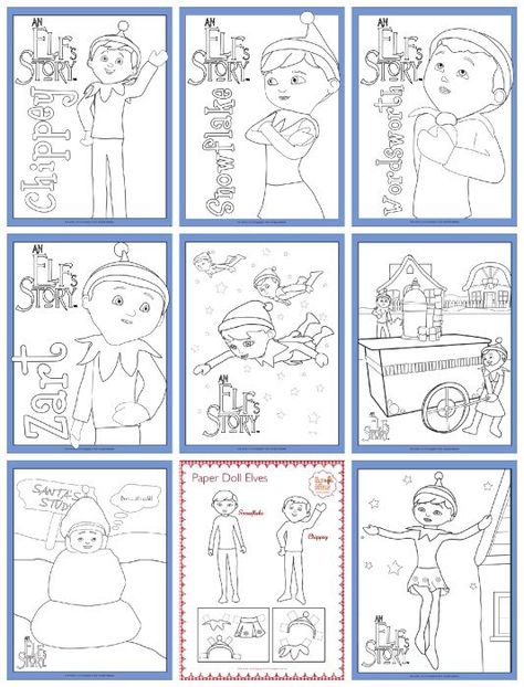 Elf On The Shelf Free Printable Coloring Pages #ElfontheShelf