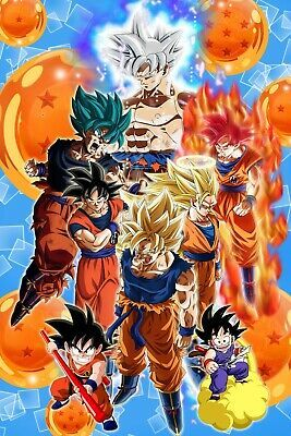 11x17 13x19 NEW Super Saiyan God Blue Dragon Ball Z Vegito Poster