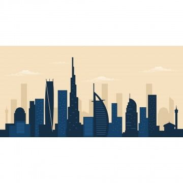 Dubai City Skyline Dubai Skyscraper Building Silhouette City Clipart Dubai Cityscape Png And Vector With Transparent Background For Free Download In 2020 City Silhouette City Vector Skyscraper