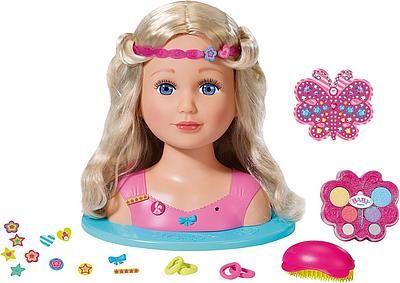 Zapf Creation Frisier Schminkkopf Baby Born Sister Styling Head Kaufen Zapf Creation Schminkkopf Und Baby Geboren