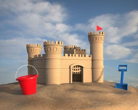 Sand Castle - STL - 3D CAD model - GrabCAD