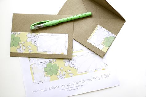 Free digital download for wrap around mailing labels Love the - mailing label designs