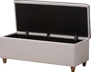 Gioni Gray Storage Ottoman Rooms To Go With Images Grey Storage Ottoman Grey Storage Storage Ottoman