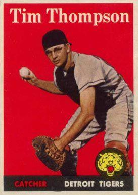 1958 Topps Tim Thompson 57w Baseball Card 1958 Topps