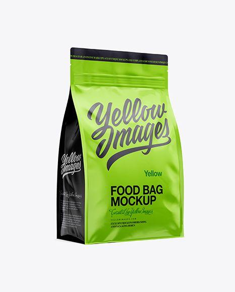 Download 4lb Food Bag Mockup Half Side View In Bag Sack Mockups On Yellow Images Object Mockups Bag Mockup Free Psd Mockups Templates Psd Mockup Template