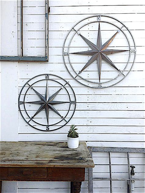 Nautical Wall Decor Compass Wall Art Metal Compass By