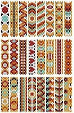 bead loom patterns Free Basic Peyote Stitch Patterns and Pattern Maker Tools Peyote Beading Patterns, Loom Bracelet Patterns, Peyote Stitch Patterns, Bead Loom Patterns, Beaded Jewelry Patterns, Weaving Patterns, Loom Beading, Bead Jewelry, Bead Weaving