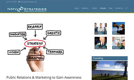 Web development, social media integration: NMV Strategies