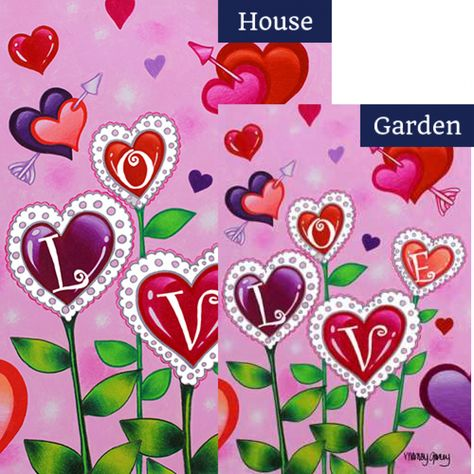 Love Garden Flags Set 2 Pieces Products Garden Flags Love