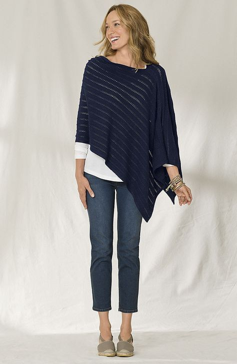 Shoes & Accessories > textured pointelle poncho at J.Jill---want this poncho and the shoes!