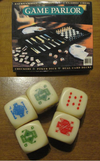 Poker Dice Game Parlor Collection Poker Hands Poker Deck Of Cards