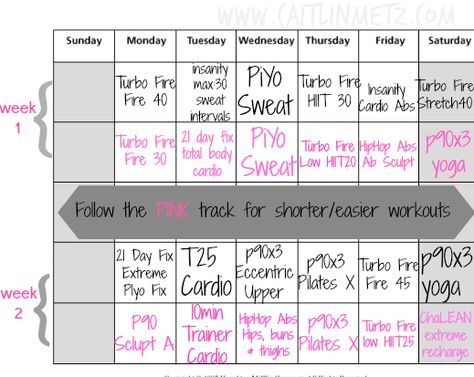Beachbody On Demand Workout Calendar Two Different Tracks To