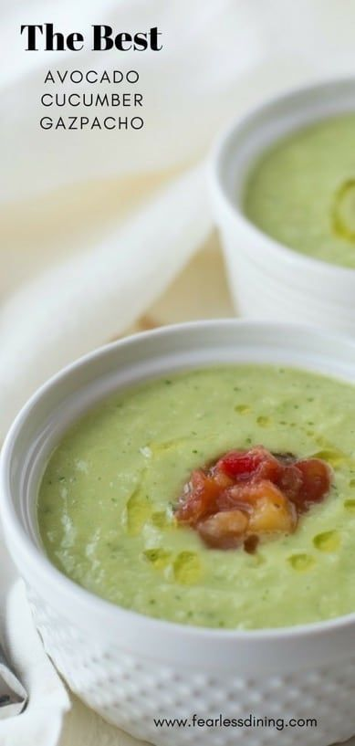 If You Love Chilled Soups This Simple Avocado Cucumber Gazpacho
