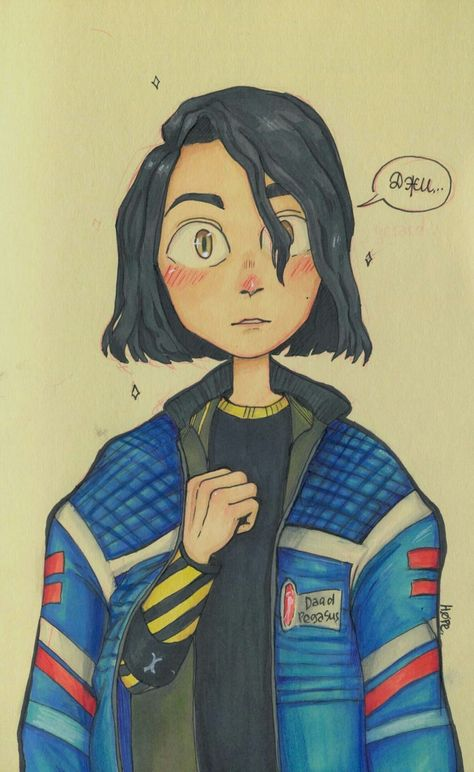 Frank in Gee's jacket