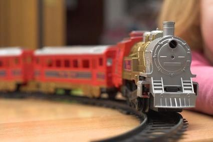 How To Make A Toy Train Track Suspended From A Ceiling Model Trains Toy Train Train Table