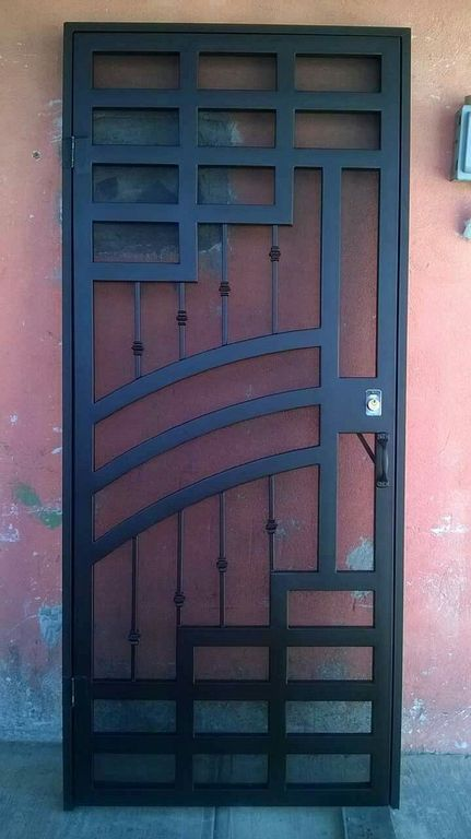 20 Iron Security Door Ideas With Beautiful Design You Can Use For Your Home Metal Doors Design Iron Door Design Steel Door Design