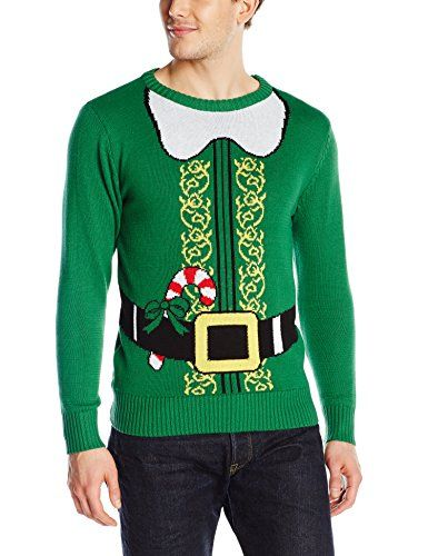 Hybrid Men's Santa's Helper Ugly Christmas Sweater, Kelly Green, Small Hybrid http://www.amazon.com/dp/B00OAVXYBM/ref=cm_sw_r_pi_dp_pb1Hub18X2C4J